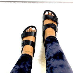 Foam Style Double Buckle Sandals – Black